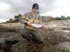 Nicke drar fisk på varje plats.